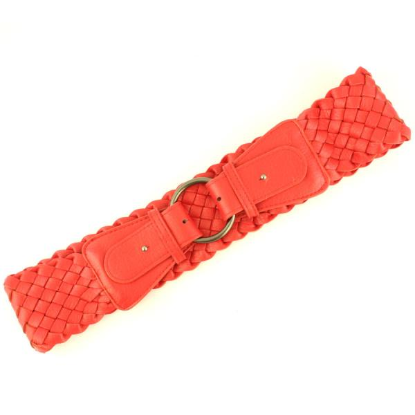 wholesale Fashion Stretch Belts W8206 - Red - ONE SIZE FITS (S-L)