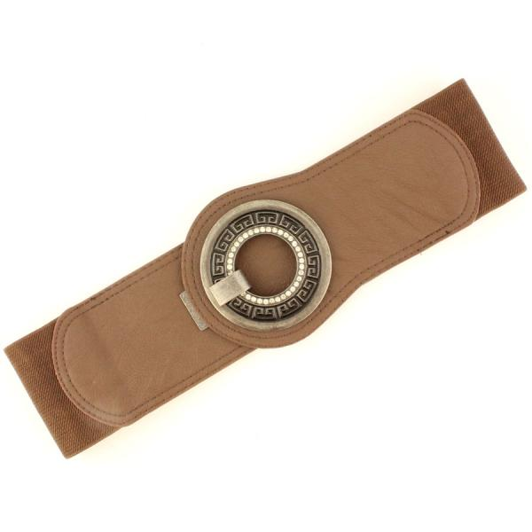 wholesale Fashion Stretch Belts W8294 - Brown - ONE SIZE FITS (S-L)