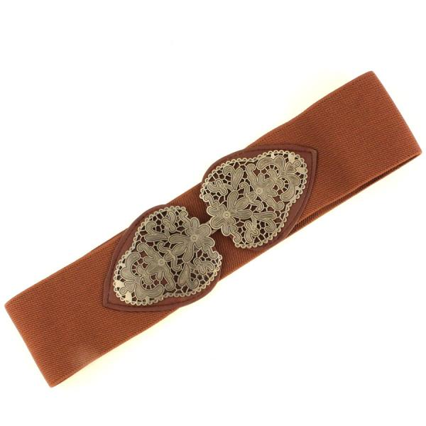 wholesale Fashion Stretch Belts X9060 - Brown - ONE SIZE FITS (S-L)