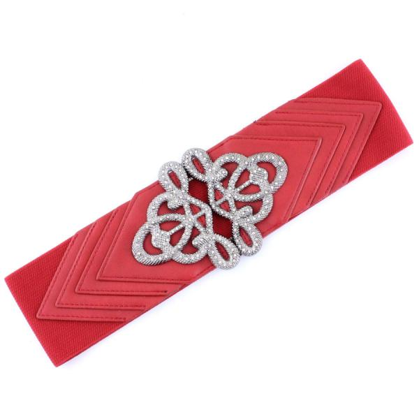 wholesale Fashion Stretch Belts X9065 - Red - ONE SIZE FITS (S-L)