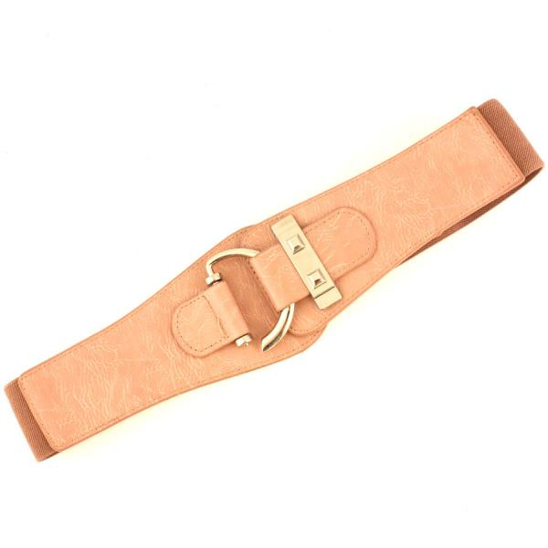 wholesale Fashion Stretch Belts Y5072 - Dusty Pink - ONE SIZE FITS (S-L)