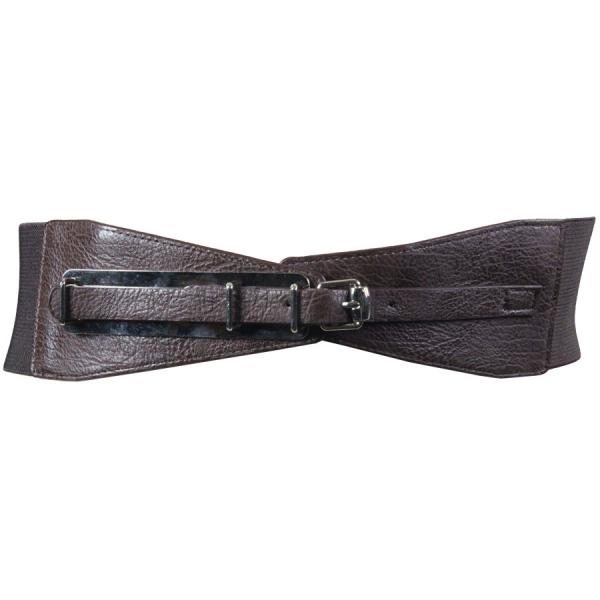 wholesale Fashion Stretch Belts Y5081 - Brown - ONE SIZE FITS (S-L)