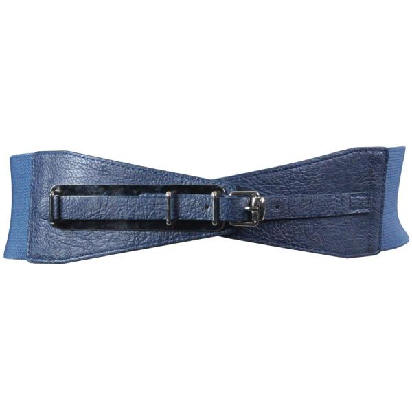 wholesale Fashion Stretch Belts Y5081 - Navy - ONE SIZE FITS (S-L)