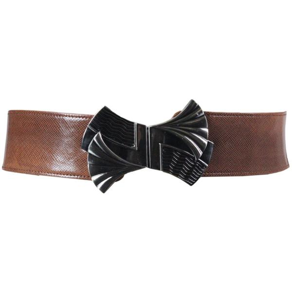 wholesale Fashion Stretch Belts Y5135 - Camel - ONE SIZE FITS (S-L)