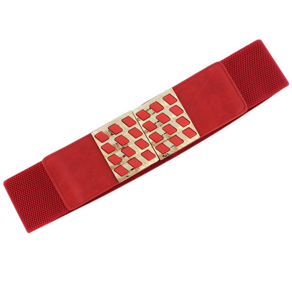 wholesale Fashion Stretch Belts Y5510 - Red - ONE SIZE FITS (S-L)
