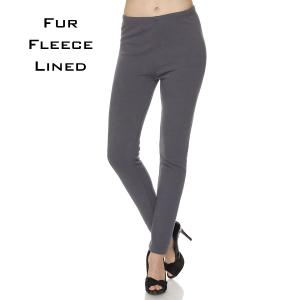 Microfiber with Fur Fleece Lining Charcoal  - S-M
