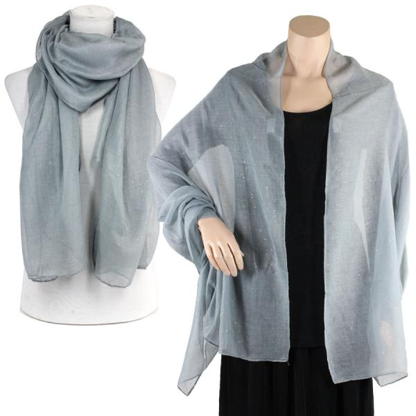 Big Scarves/Shawls - Metallic Flecks ES1003* Grey -