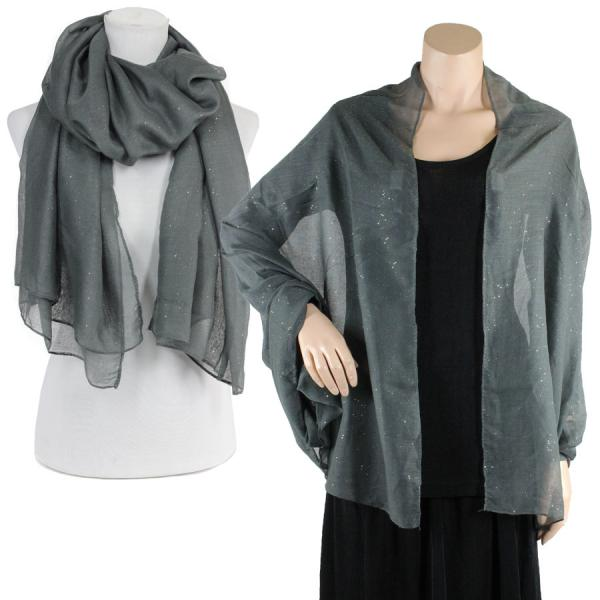 Big Scarves/Shawls - Metallic Flecks ES1003* Dark Grey -