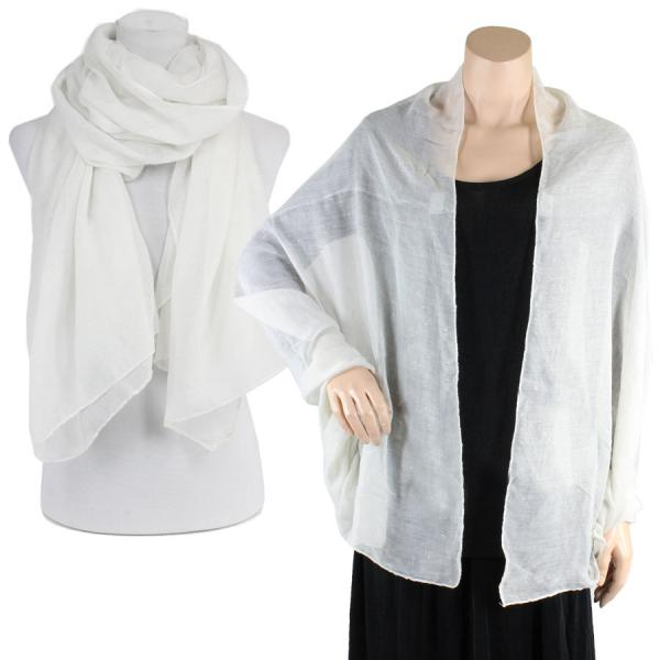 Big Scarves/Shawls - Metallic Flecks ES1003* Ivory -