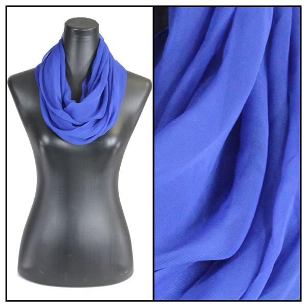 Infinity Silky Dress Scarves Solid Royal -