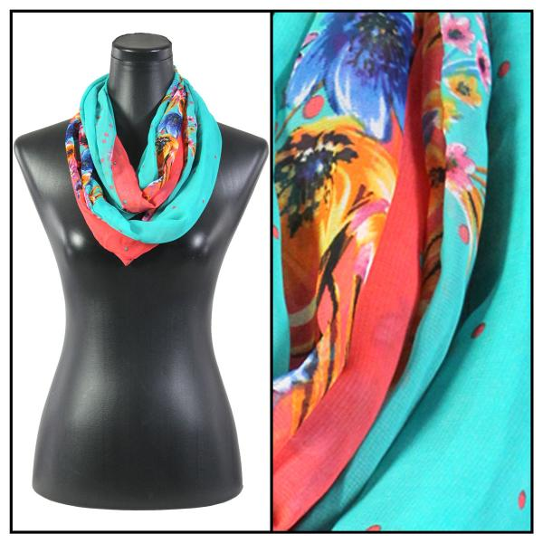 Infinity Silky Dress Scarves 015 - Coral -