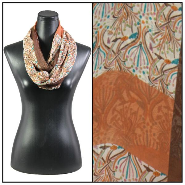 Infinity Silky Dress Scarves 012 - Brown -