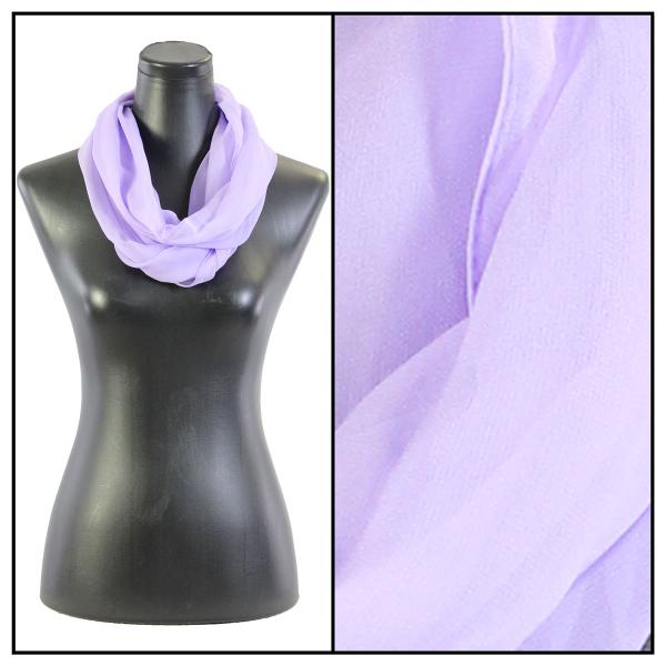 Infinity Silky Dress Scarves Solid Lavender -
