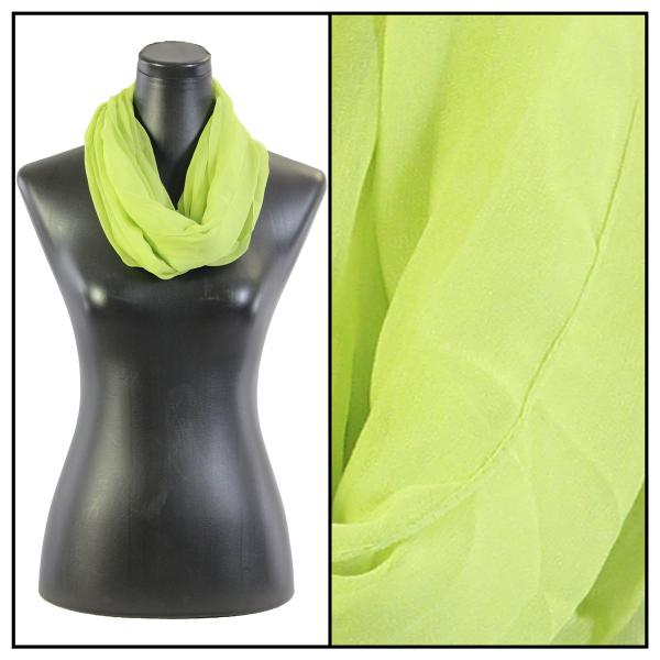 Infinity Silky Dress Scarves Solid Leaf Green -