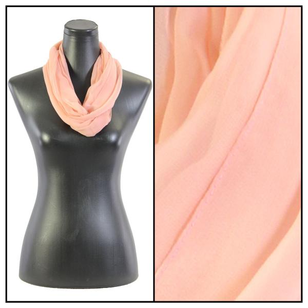 Infinity Silky Dress Scarves Solid Blush (MB) -