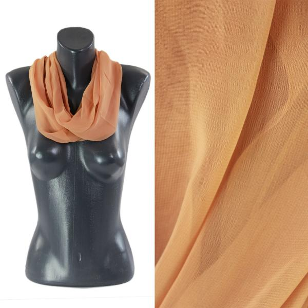 Infinity Silky Dress Scarves Solid Copper -