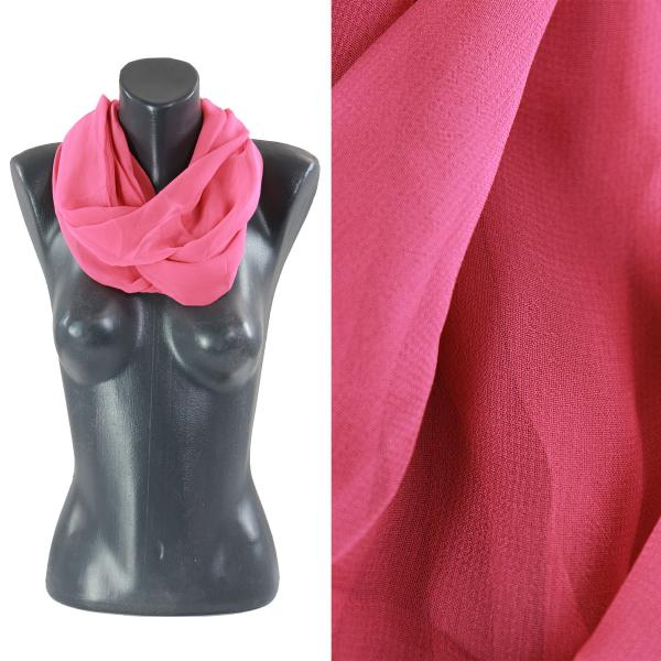 Infinity Silky Dress Scarves Solid Coral -