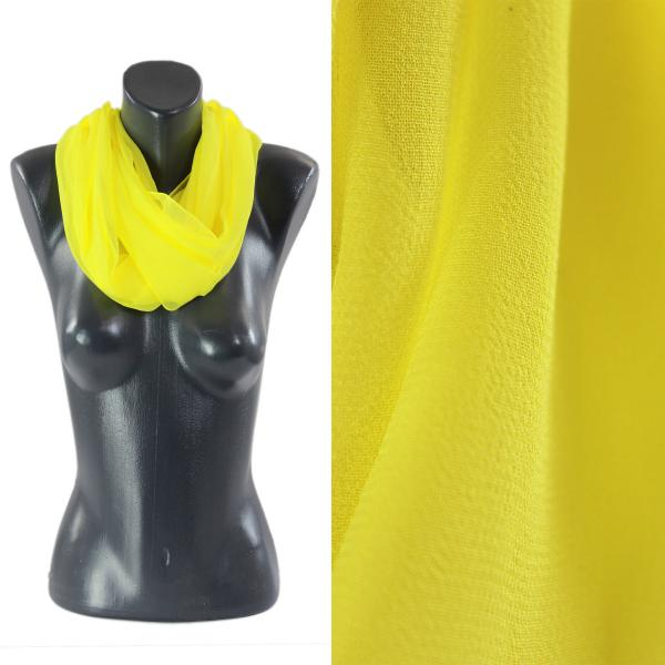 Infinity Silky Dress Scarves Solid Yellow -