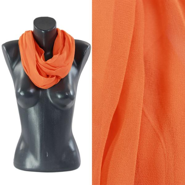 Infinity Silky Dress Scarves Solid Orange -