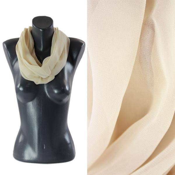Infinity Silky Dress Scarves Solid Tan -