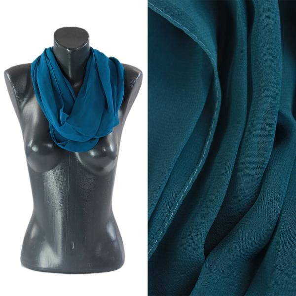 Infinity Silky Dress Scarves Solid Teal -