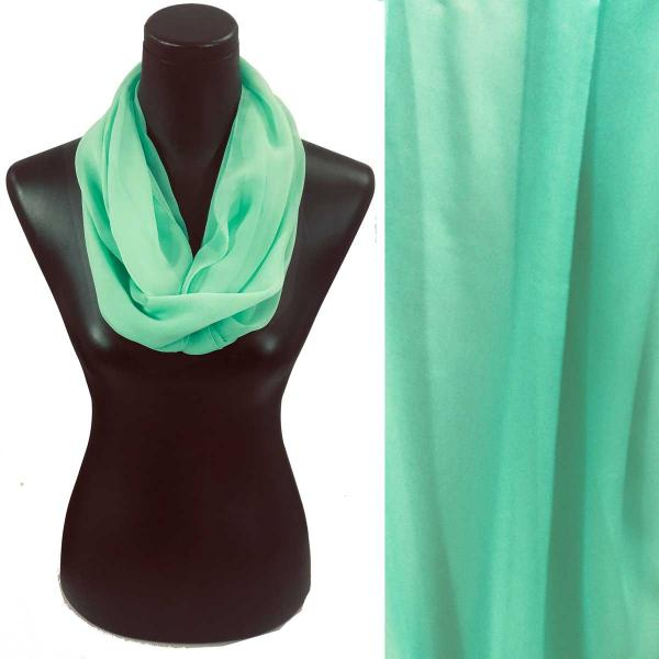 Infinity Silky Dress Scarves Solid Mint -