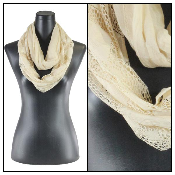 wholesale Infinity Scarves - Diamond Lace 4113* Beige -