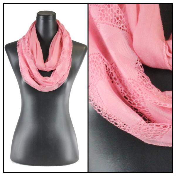 wholesale Infinity Scarves - Diamond Lace 4113* Pink -