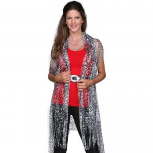 Confetti Vests with Lurex Sparkle Black-White-Grey -