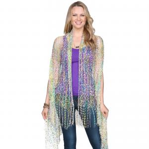 Confetti Vests with Lurex Sparkle Green-Lilac-Yellow -