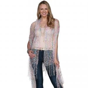 Confetti Vests with Lurex Sparkle Pastel Tones -