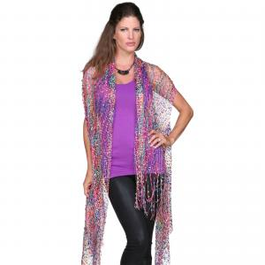 Confetti Vests with Lurex Sparkle Hot Pink-Multi -