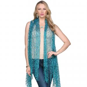 Confetti Vests with Lurex Sparkle Teal -