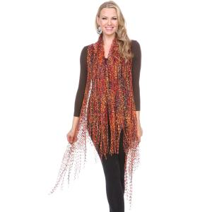 Confetti Vests with Lurex Sparkle Earthtone -