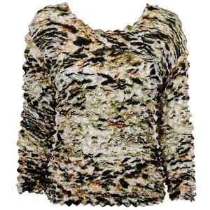 wholesale Gourmet Popcorn - Long Sleeve Olive Leopard - One Size (S-XL)