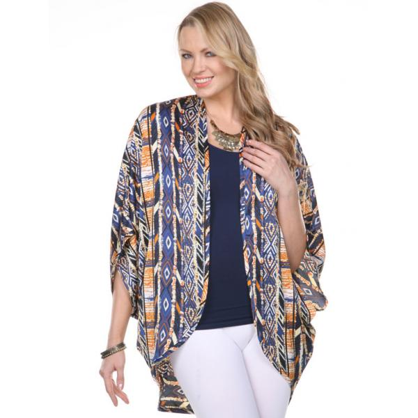 Kimonos - Satin SM192 & SM195 SM194 - Navy-Orange -