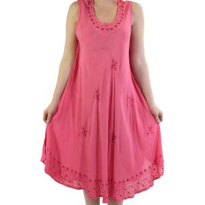 wholesale Summer Calf Length Dresses 2021 Fuchsia Petite Flowers* (MB) -