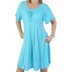 wholesale Summer Calf Length Dresses 11577 Turquoise* (MB) -