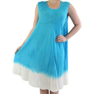 wholesale Summer Calf Length Dresses 11705 Turquoise Two-Tone (MB) -