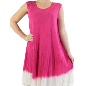 wholesale Summer Calf Length Dresses 11705 Fuchsia Two-Tone (MB) -