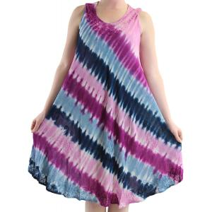 wholesale Summer Calf Length Dresses 11709 Purple/Blue Diagonal Stripe (MB) -