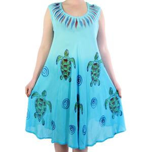 wholesale Summer Calf Length Dresses 11714 Blue Sea Turtles -