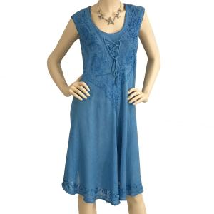 wholesale Summer Calf Length Dresses 11575 Blue (MB) -