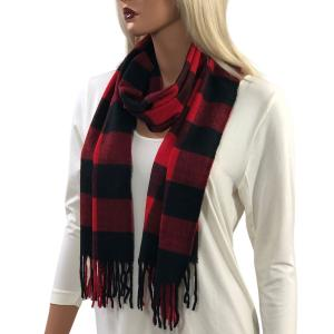 Wholesale  Buffalo Plaid Red/Black Cashmere Feel Scarf 1336 -