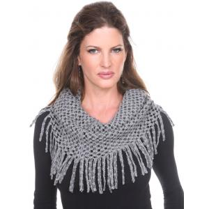 wholesale Infinity Scarves - Chenille Knit 7352 Grey Infinity Chenille Knit 7352 -