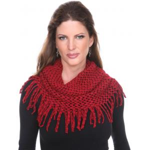 wholesale Infinity Scarves - Chenille Knit 7352 Red Infinity Chenille Knit 7352 -
