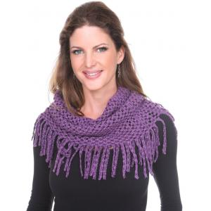 wholesale Infinity Scarves - Chenille Knit 7352 Purple Infinity Chenille Knit 7352 -