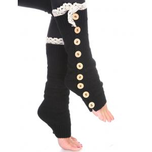 Wholesale  Black Nine Button Leg Warmer 264x111 -