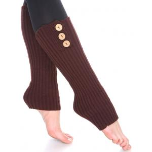 Wholesale  Dark Brown Three Button Leg Warmer 264x113 -