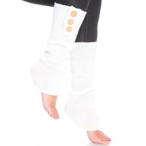 Wholesale  Ivory Three Button Leg Warmer 264x113 -